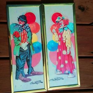 🎪2 Clown pictures by Chuck Oberstein